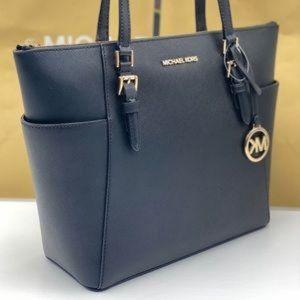 Michael Kors Charlotte Tote Shoulder Bag Black